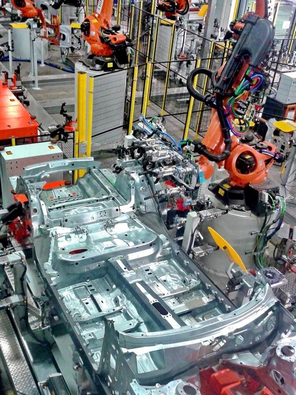 KUKA welding robots.