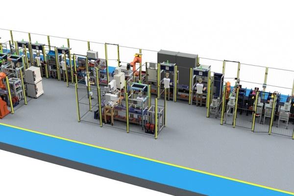 Armrest assembly line