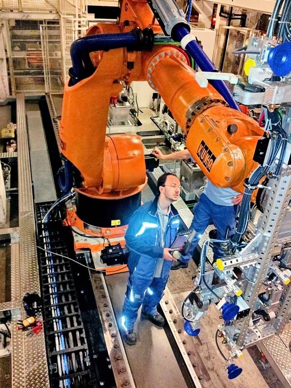 Programování robota KUKA.