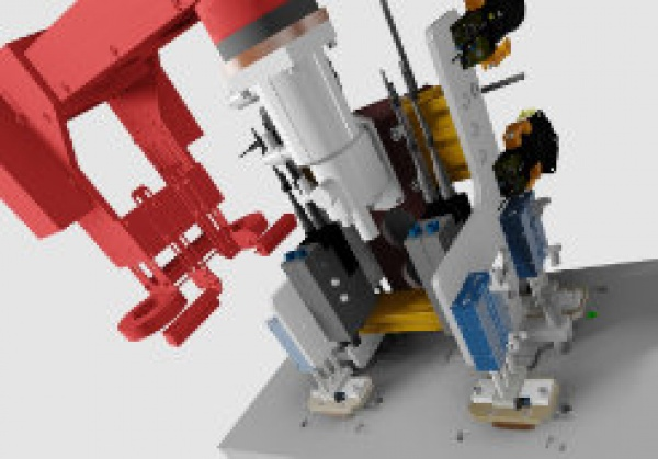 Konstrukce speciálního jednoúčelového stroje.